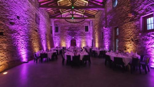 Eclairage déco au chateau de la Gallée